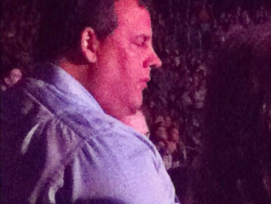 Gov. Chris Christie attends at Bruce Springsteen show