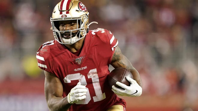 Raheem Mostert, the San Francisco 49ers' leading rusher during the 2019 season, requested a trade on Wednesday, according to his agent.