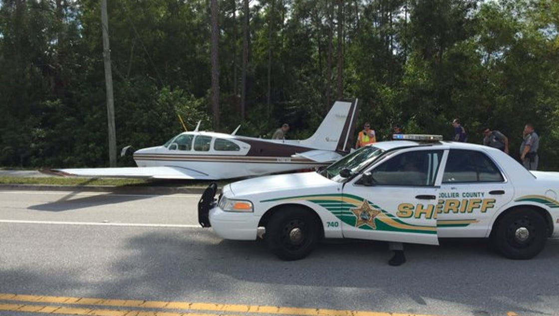 Plane lands on road in collier county no injuries for Global motors fort myers florida