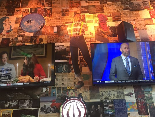 The M.L. Rose locations has TV sets for watching sports