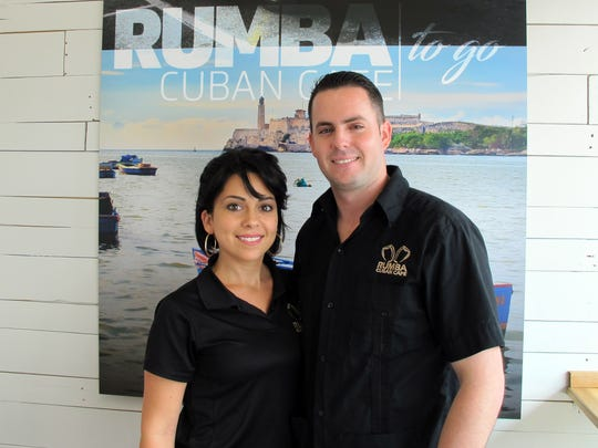 Vanessa and Jorge Reyes Jr. at their new Rumba Cuban Cafe To Go in Naples Park Plaza on U.S. 41 in North Naples.
