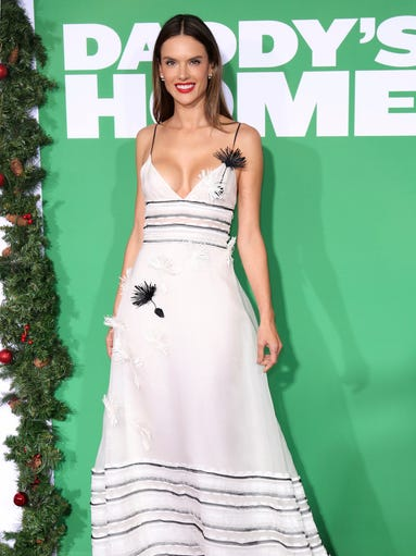 Alessandra Ambrosio arrives at the L.A. premiere of