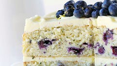 Blueberry Zucchini Cake with Lemon Buttercream and