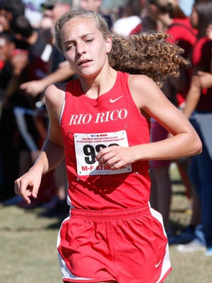 Rio Rico's Allie Schadler won the Division III 5K championship at Cave Creek Golf Course in 17 minutes, 4.5 seconds, a state record.