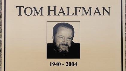 A memorial to Tom Halfman at Taylor Park in Rosendale.