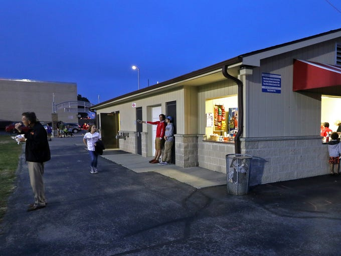 A concession and restroom facility at the Wauwatosa