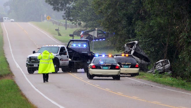 Three people were killed in a wreck on U.S. 412 near Cotton Grove Road on Wednesday.