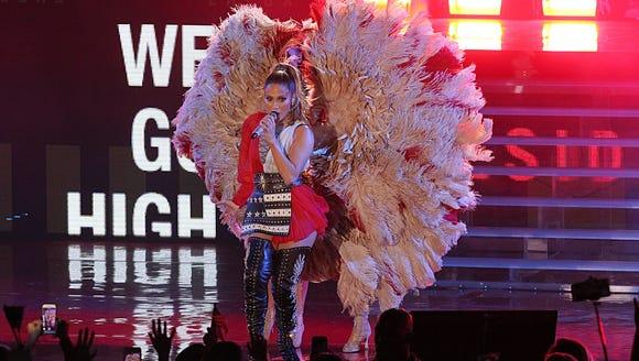 Jennifer Lopez performs a Get Out The Vote concert