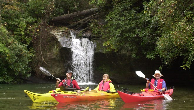 Lake Jocassee is a hot spot for kayakers. But it wasn't always a lake.