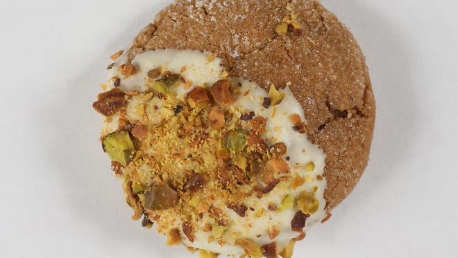 White chocolate, pistachios and brown butter combine deliciously in this cookie.