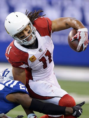 Larry Fitzgerald had more of a yeoman's role in the Cardinals' win over the Colts.