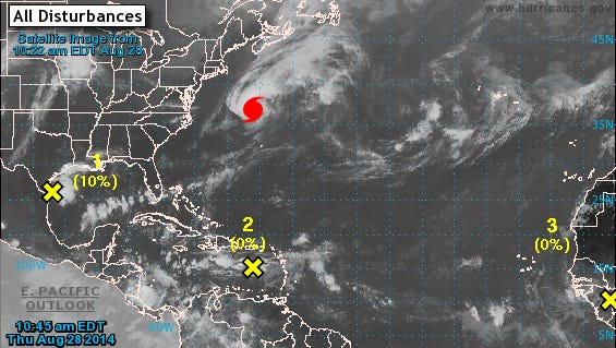 The National Hurricane Center is monitoring several tropical systems in the Atlantic this week.