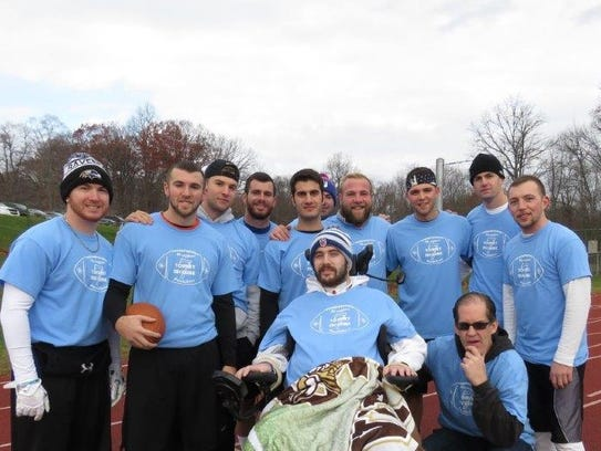 Tommy McGuire at the 2016 Turkey Bowl fundraiser