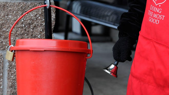 The Salvation Army bell ringer's red bucket and bell have been a holiday season staples for years.