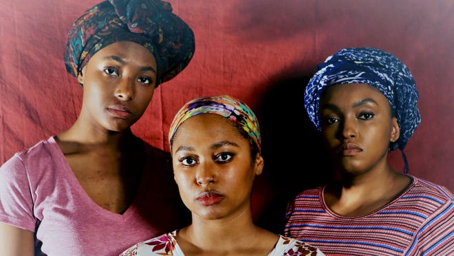 """""""Eclipsed"""" features Candace-Omnira LaFayette, left, Brianna Booker and Shelena Walden."""
