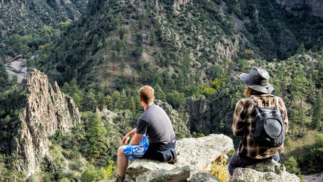 Students explore the beauty of the Gila National Forest.