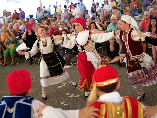 In this file photo, members of the Junior Levandia dance troupe perform at the annual St. Katherine Greek Fest at St. Katherine Greek Orthodox Church on Friday, Feb. 22, 2013, in North Naples. This year's annual celebration of Greek culture runs Friday through Sunday.