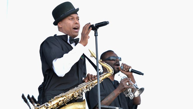 Angelo Moore of Fishbone, here at Coachella, is headed to Asbury Park.