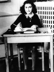 An undated file photo shows Anne Frank, the young Jewish