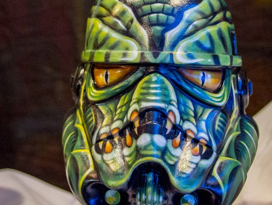 Ohio tattoo artist Mike Guidone painted his stormtrooper
