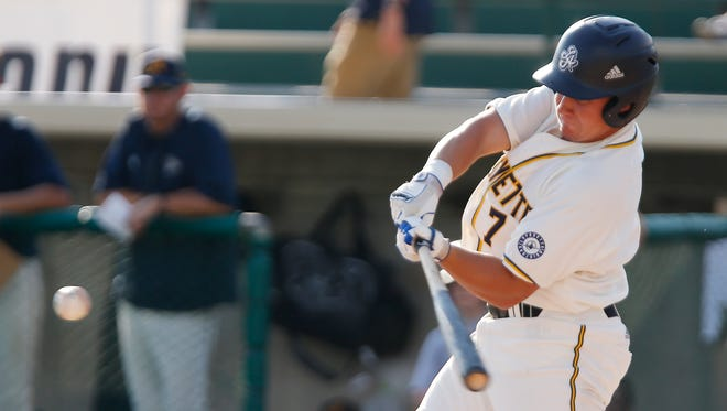 Logan Beaman is among the Prospect League leaders in batting average, home runs and RBI.