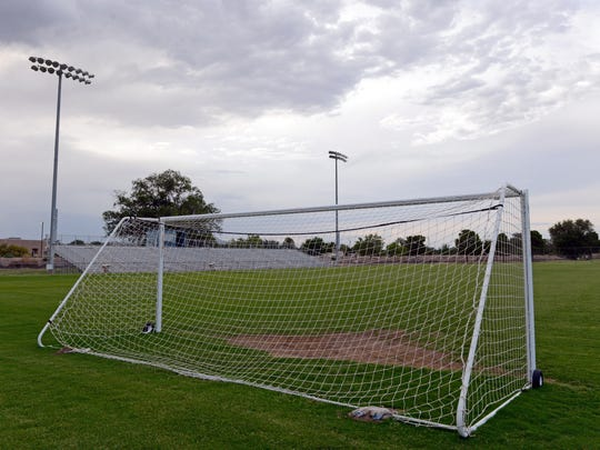 Soccer field at the High Noon soccer complex in Las