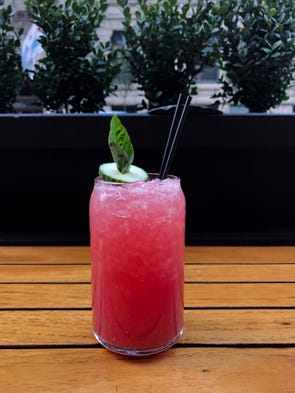 In Chicago, Hub 51 serves Ashley's Kick with cucumber-infused