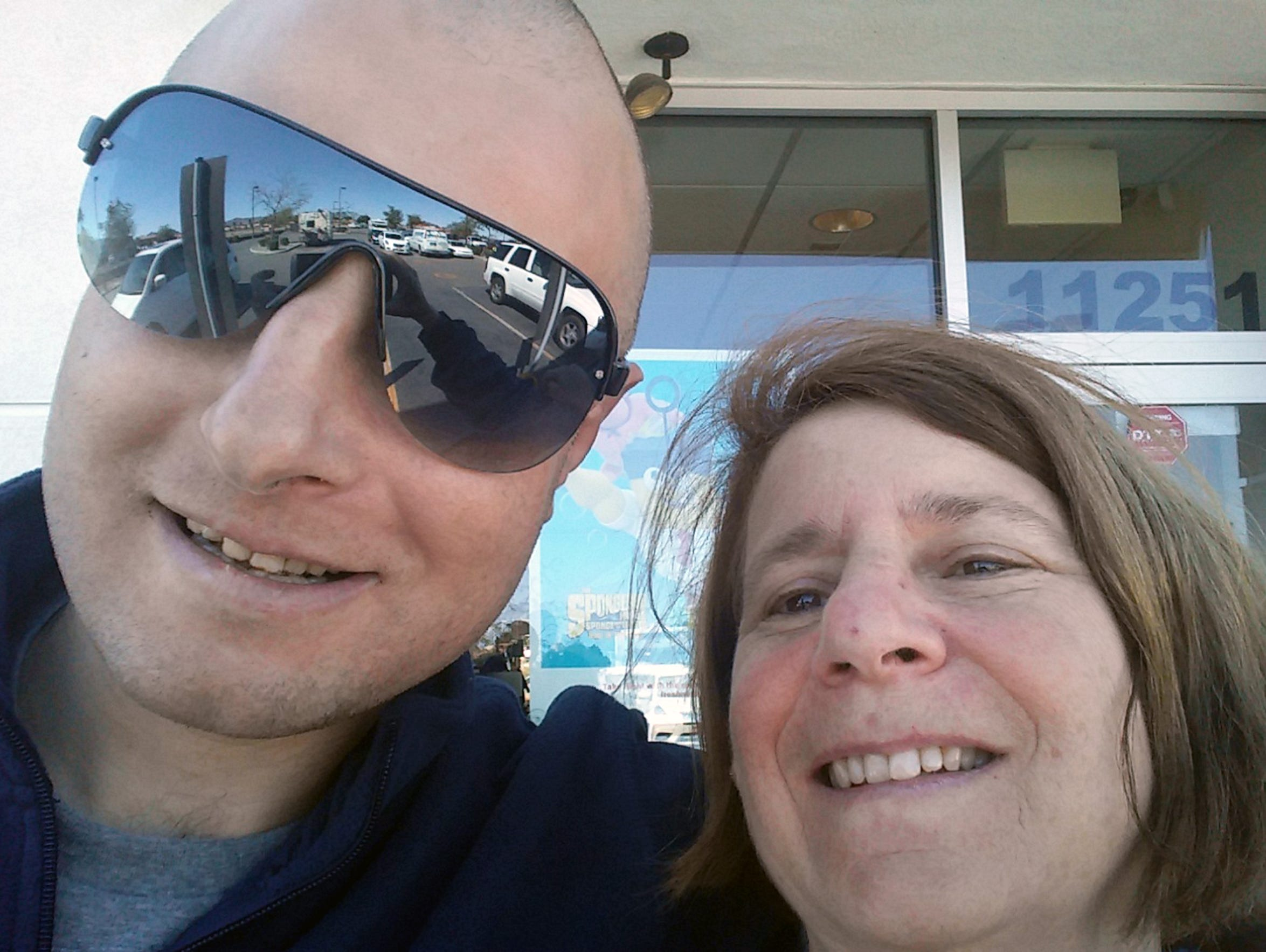 Curtis Goldman and his mother, Deborah Goldman, are