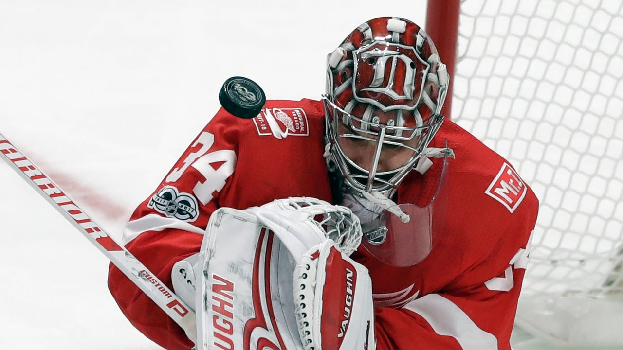 Petr Mrazek says the Red Wings 'deserved to win' after their third straight loss, a disappointing 4-3 defeat in overtime to the Capitals at Little Caesars Arena on Friday, Oct. 20, 2017.