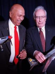 John Leahr, left and Herbert Heilbrun, right.
