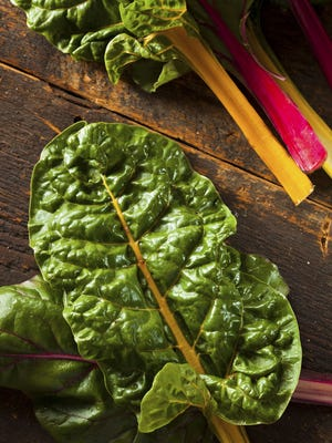 Rainbow Swiss chard can add a burst of color to your meal and remind you that spring's not far away.