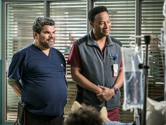 """Luis Guzmán (left) and William Allen Young star on the medical drama """"Code Black."""""""