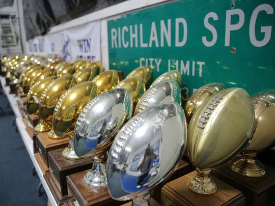 Among the many trophies in the Richland Springs High