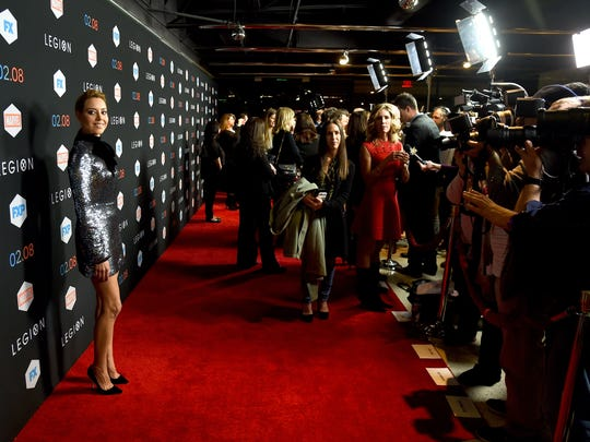 """Aubrey Plaza is photographed at the premiere of FX's """"Legion"""" on Jan. 26 in West Hollywood, California"""