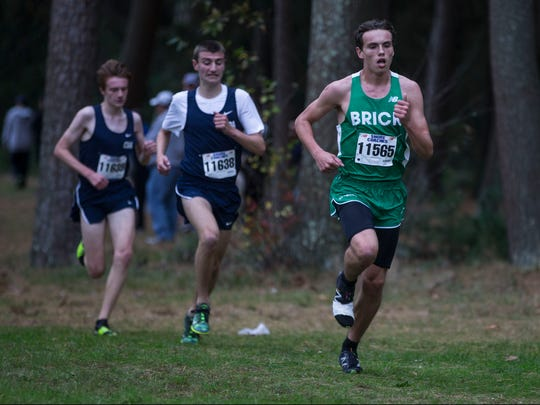Shore conference cross country championships held at Ocean Couny Park. Boys winner Damien Dilcher of Brick High School. Lakewood, NJWednesday, October 26, 2017@dhoodhood