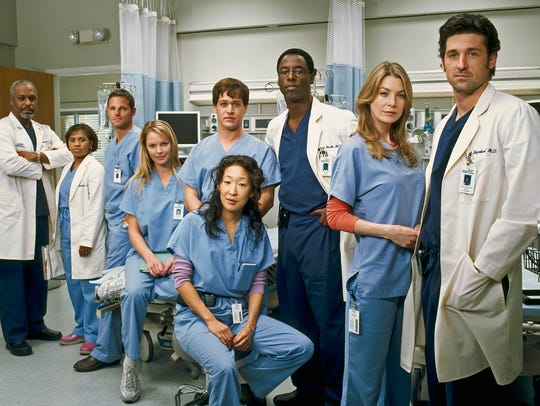 The original cast, circa 2005: James Pickens Jr., left,