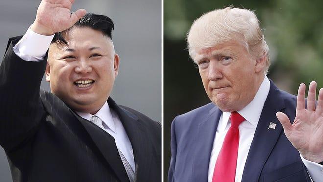 North Korean leader Kim Jong Un and President Donald Trump.