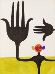 "Alexander Calder, ""Hand of Fatima,"" 1944, gouache on"