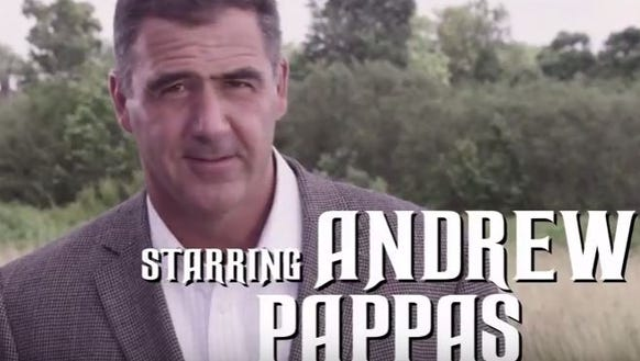 Andrew Pappas, a candidate for Hamilton County commissioner,