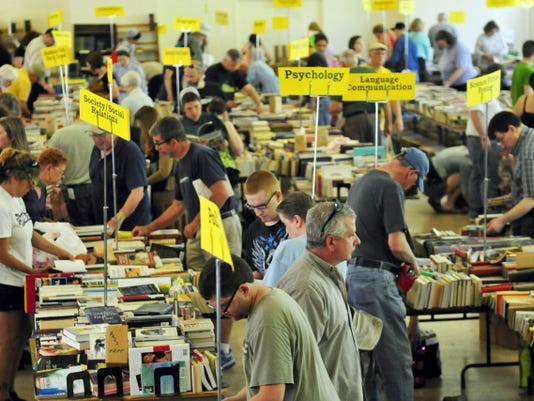 Franklin County Friends of Legal Services Book Sale drew lots of browsers Friday to Laird Hall, Wilson College. The book sale continues through the weekend.