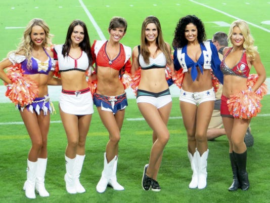 Alicia Marie Parks, third from right, poses for a picture with other cheerleaders at the 2015 Pro-Bowl in Arizona.