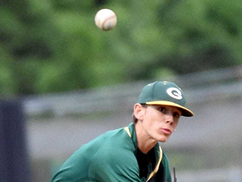 Gallatin High freshman Brady Harris delivers a first-inning pitch.