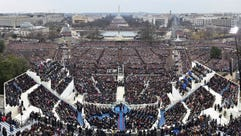 A panoramic view of President Trump's inauguration
