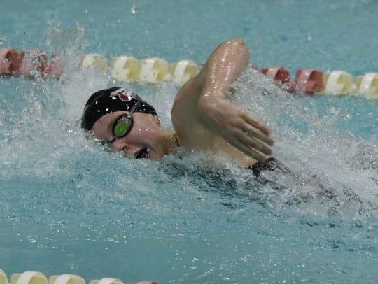 Cassie Stegner of Menominee Fall/Sussex Hamilton swims