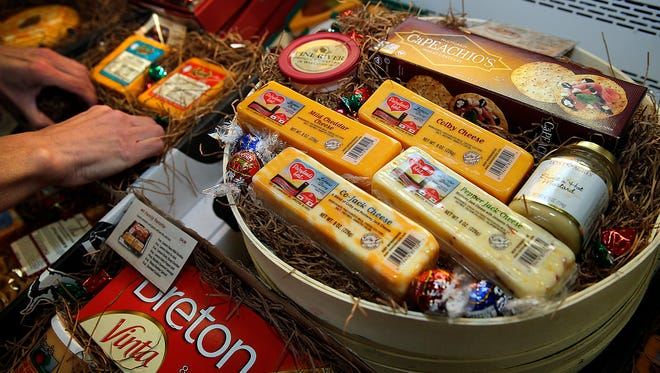 Cheese gift boxes at Lamers Dairy in Buchanan.