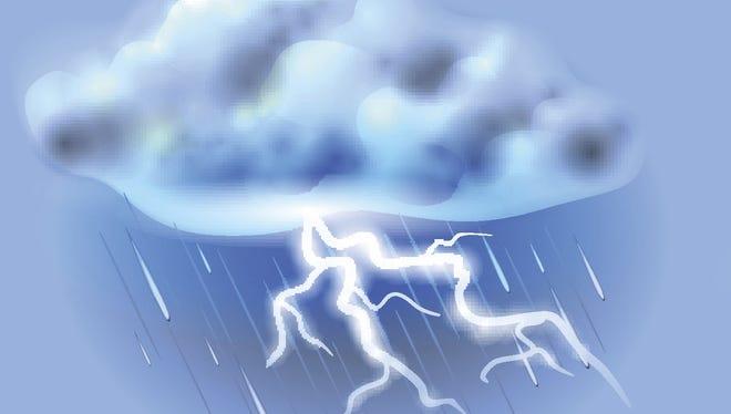 Thunderstorm lightning rain storm thunder.