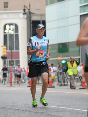"""Mile 18: Thor """"Bud"""" Olafsson of Clarkston is one of"""