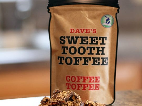Dave's Sweet Tooth now sells toffee in 4 ounce jar-shaped bags.