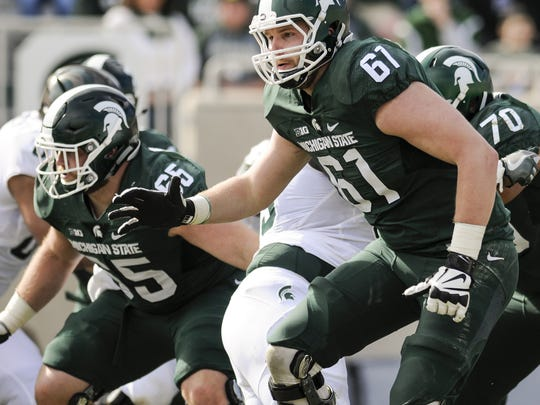 MSU left tackle Cole Chewins