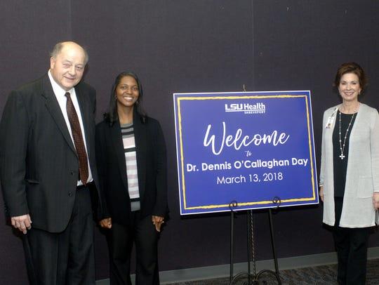Dr. Dennis O'Callaghan, Angela Graham and Marti Glass